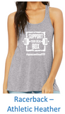 """Support Your Local Box"" Women's Flowy Racerback Tank"