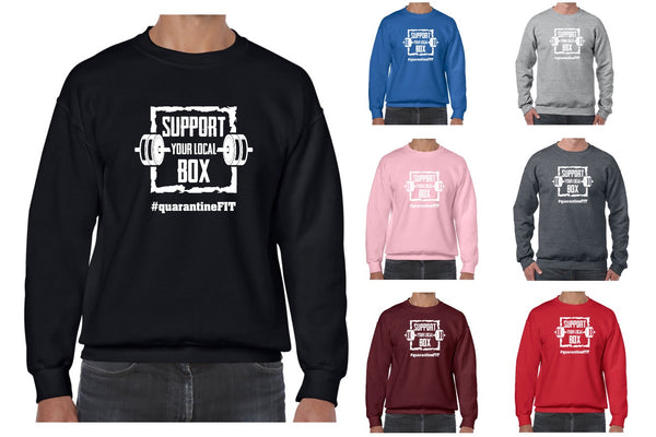 """Support Your Local Box"" Unisex Crewneck Sweatshirt"