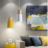 Suspension luminaire jaune scandinave