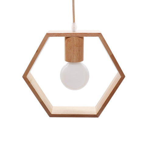 suspension scandinave en bois