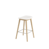 Fiber - Bar Stool / Wood base H 65 - Natural White/Oak