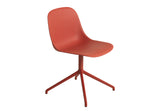 Fiber - Side Chair / Swivel base - Dusty red/ Dusty red