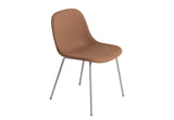 Fiber - Side Chair / Tube base -  Remix 452 / Grey