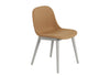 Fiber - Side Chair / Wood Base - Remix 433 / Grey
