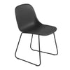 Fiber - Side Chair / Sled base -  Black/Black