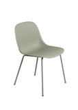 Fiber - Side Chair / Tube base -  Dusty Green/Dusty Green