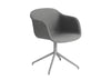 Fiber - Armchair Swivel Base W.O. Return - Textile seat Remix 133 / Grey