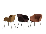 Fiber - Armchair Tube base - Textile seat Remix 373 / Black