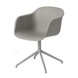 Fiber - Armchair Swivel Base W.O. Return - Fiber seat Grey/Grey