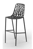 Tabouret Forest - Grand dossier H. assise 65cm Noir