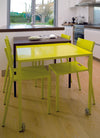 Rafale - Table coulissante S - Jaune-Celadon