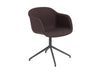 Fiber - Armchair Swivel Base W.O. Return - Textile seat Remix 373 / Black
