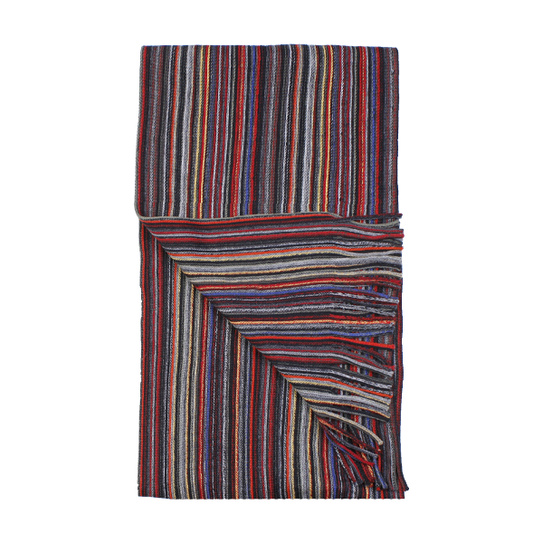 Amanda Christensen Multi Stripe Scarf 999 Black