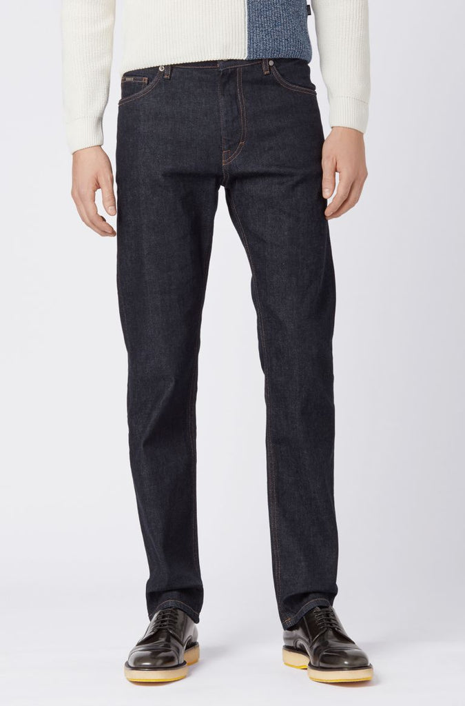 BOSS Albany Relaxed Fit Jean 410 Navy