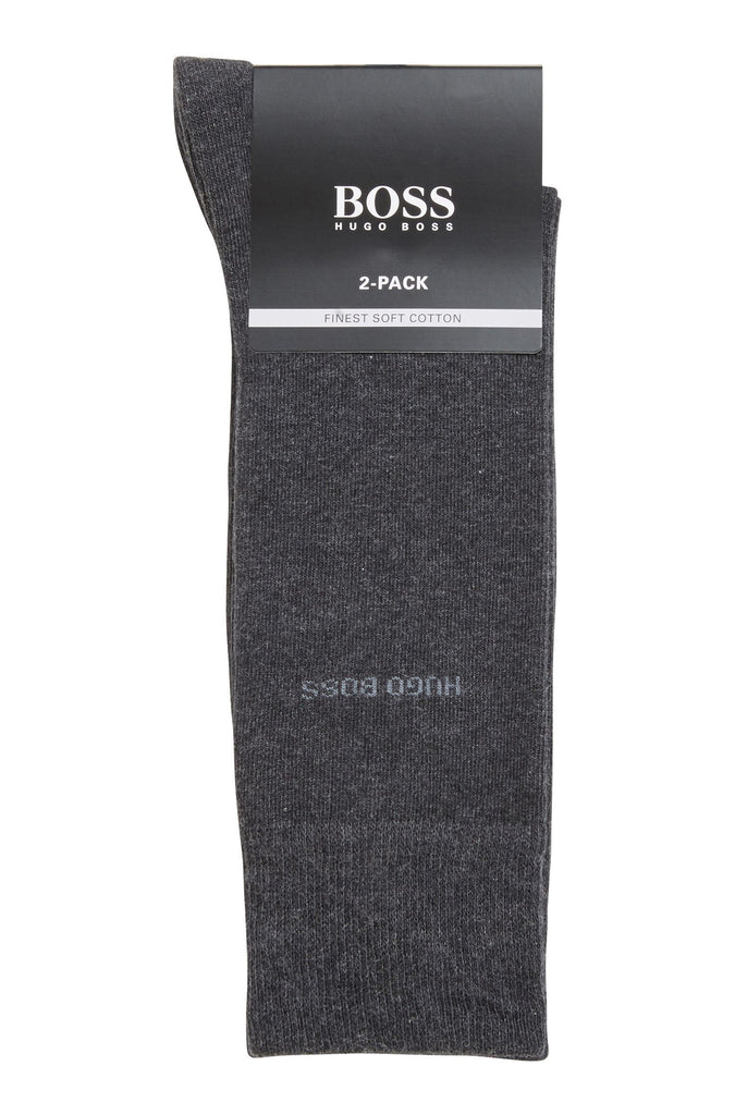BOSS Twin Pack Plain Sock 012 Charcoal