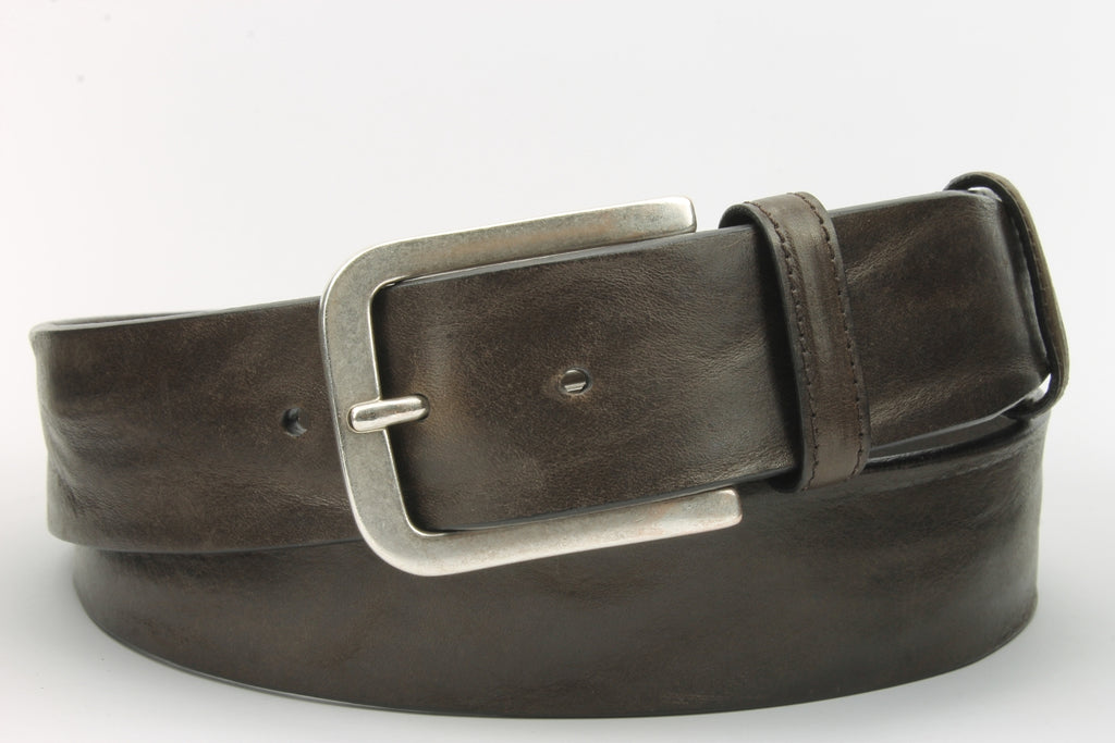 Elliot Rhodes S390 678H Vintage Feel Jeans Belt Brown Brown