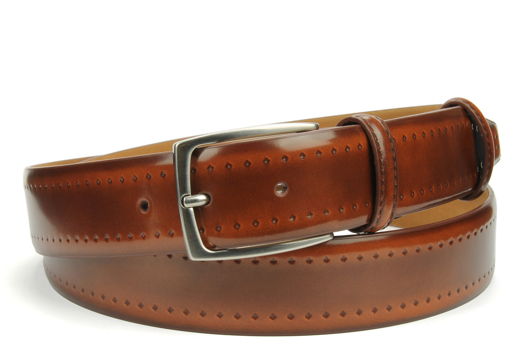 Elliot Rhodes S969 435B Diamond Indent Belt Fudge Fudge