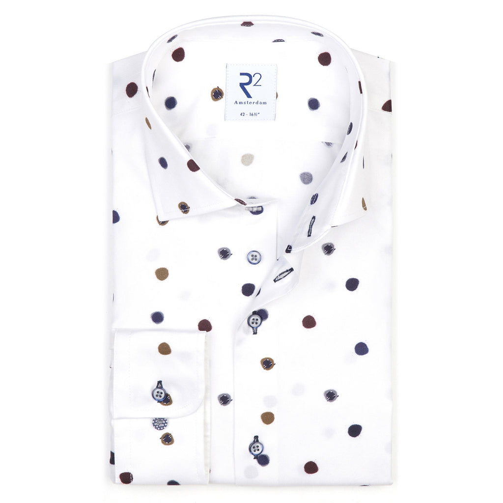 R2 Amsterdam Fine Cotton Twill Shirt 004 White