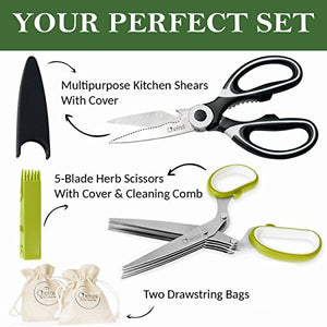 Load image into Gallery viewer, Kitchen Shears & Herb Scissors Set