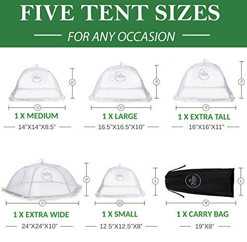 Food Cover Tents - Sizes