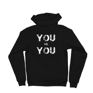 'You VS. You' Self-Will Logo Zip Up Hoodie
