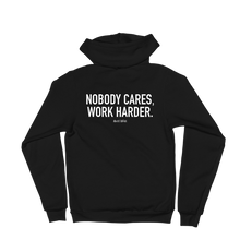 Load image into Gallery viewer, 'Nobody Cares' Self-Will Logo Zip Up Hoodie