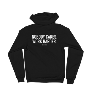 'Nobody Cares' Self-Will Logo Zip Up Hoodie