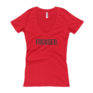 'Focused' Women's V-Neck
