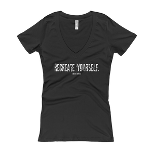 'Recreate Yourself' Women's V-Neck
