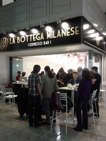 La Bottega Milanese The Light at night The first late night espresso bar in the north