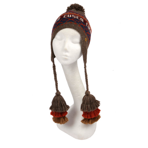 DIAMANTE BEANIE (BURGUNDY)