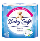 Baby Soft 2ply Toilet Rolls 4 Pack