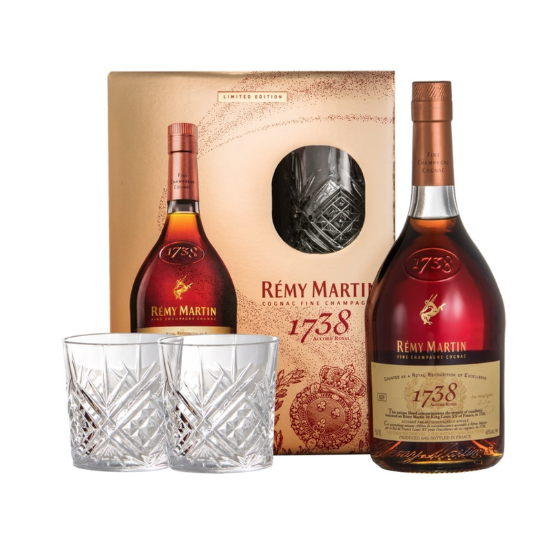 Remy Martin 1738 Cognac 750ml & 2 Glasses