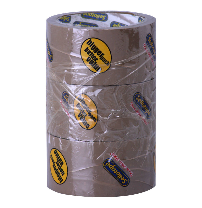 Sellotape Buff Packing Tape