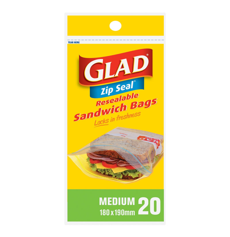 Glad Sandwich Bags Medium Zip Seal