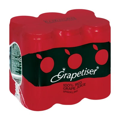 Red Grapetiser 330ml Can 6 Pack