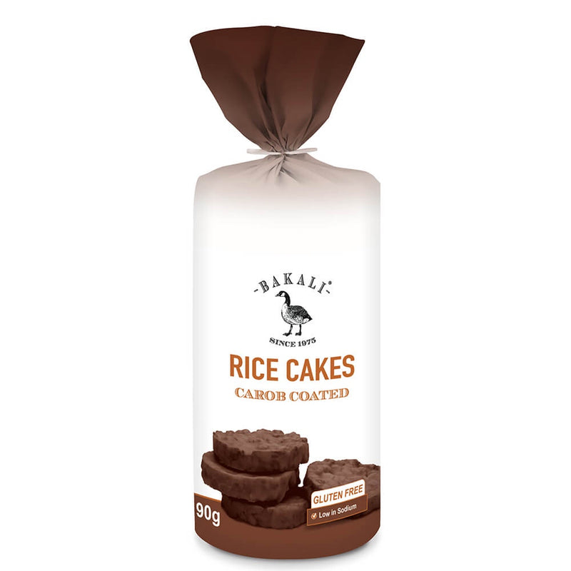 Bakali Carob Coated Rice Cakes 90g