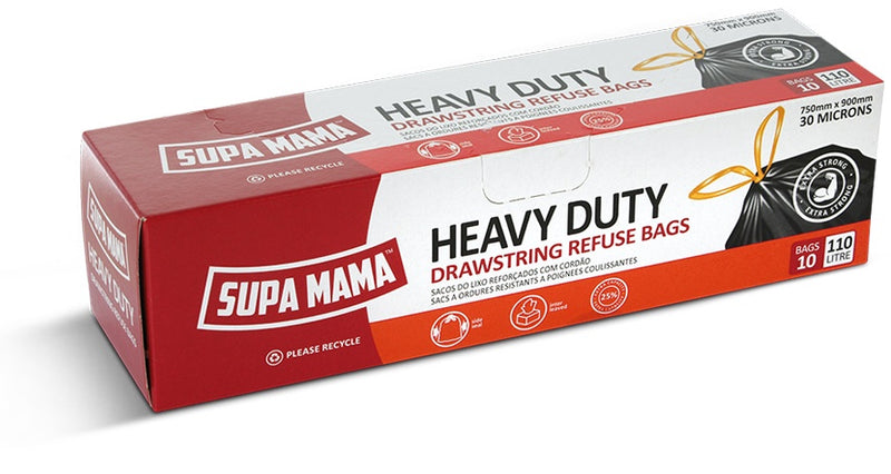 Supa Mama Heavy Duty Refuse Bags - 10