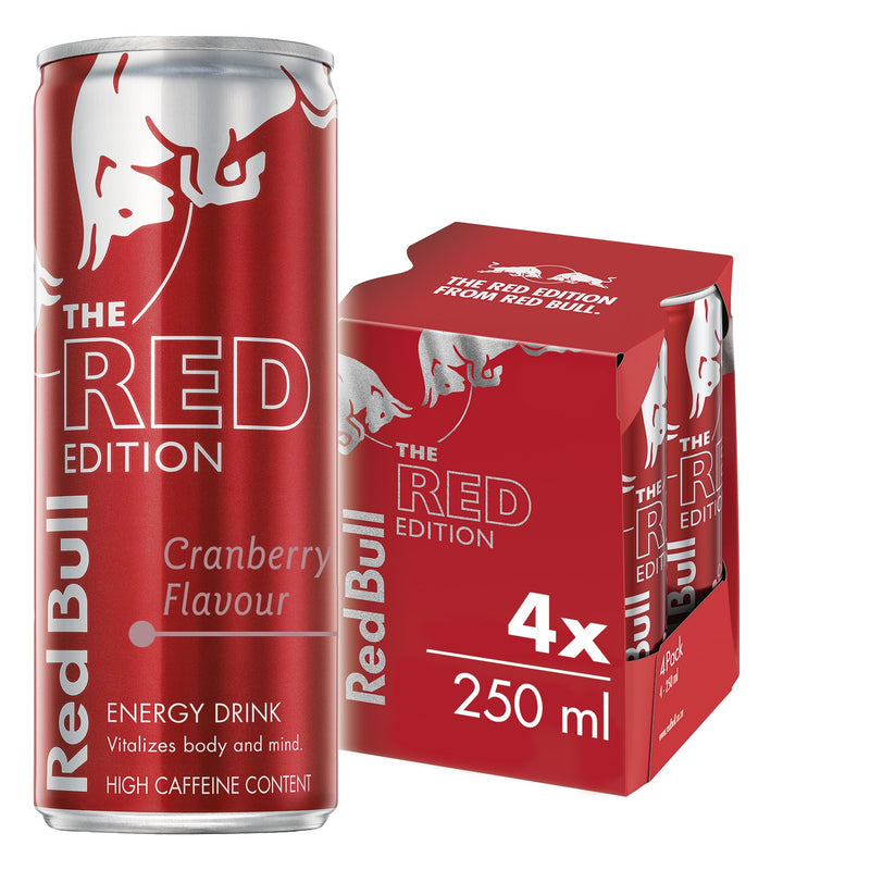 Red Bull Energy Drink Cranberry 250ml (4 Pack)