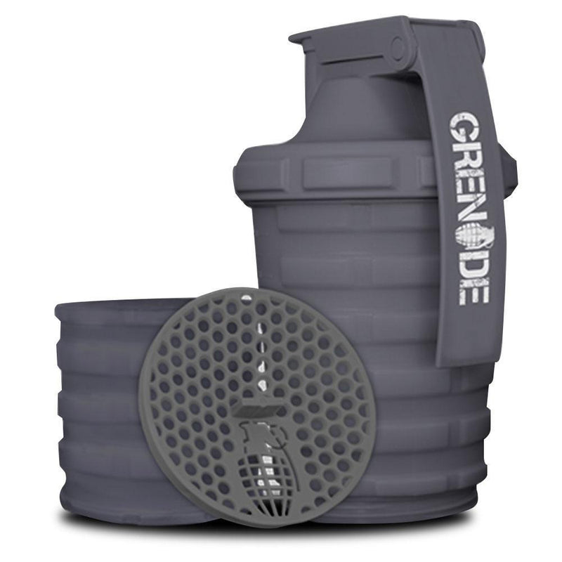 Grenade Shaker Bottle Gun Metal Grey