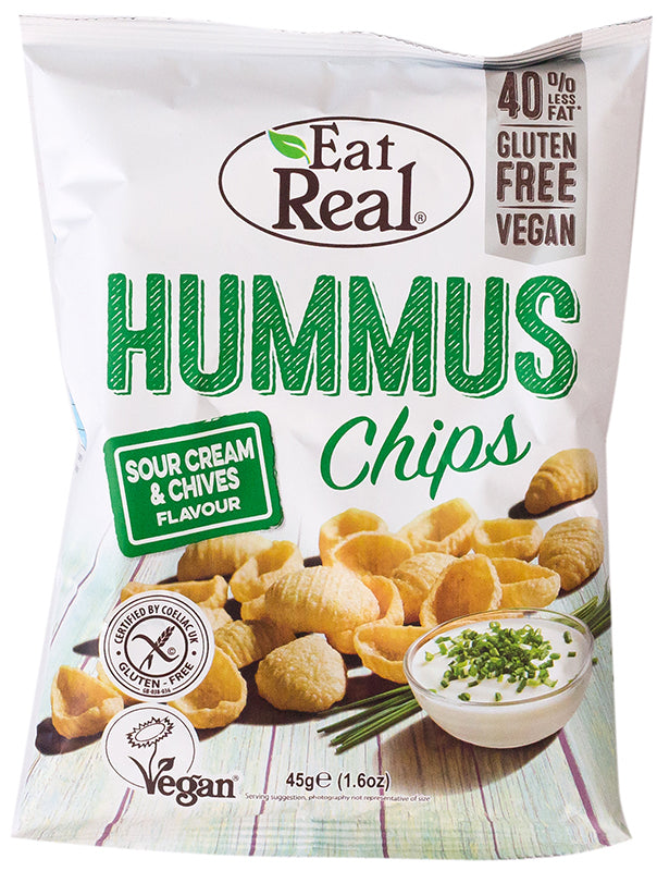 Eat Real Hummus Chips - Sour Cream & Chives 30g