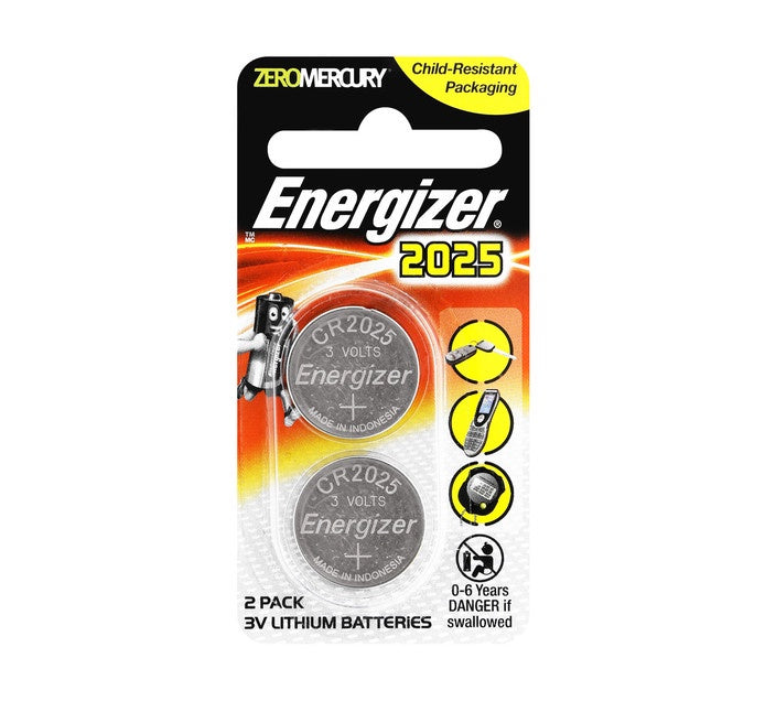 Energizer Coin 2025 Pack of 2 Batteries