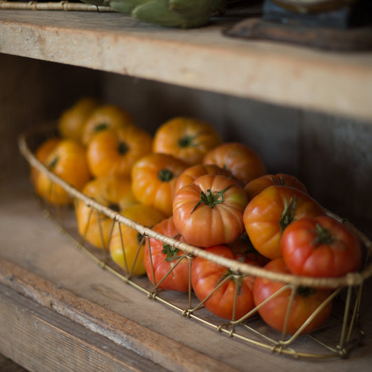 Heirloom Tomatoes, color-blocked from dark to light