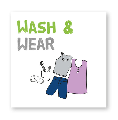 Wash and wear