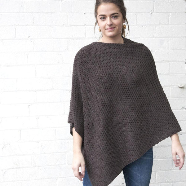 Textured Poncho - Multiple Colours