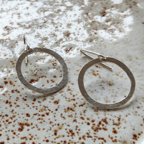 Earrings - Sterling Silver Circles