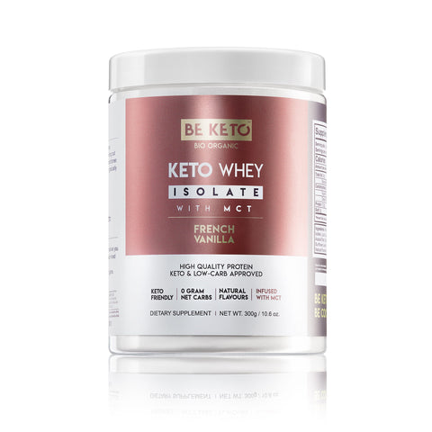 KETO WHEY ISOLATE + MCT - French Vanilla 300G