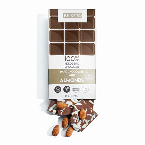 Keto Chocolate Almond + MCT Oil 90G