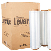 "Load image into Gallery viewer, 18"" x 30 gauge x 1500' Hand Stretch Wrap, 4 rolls/case"