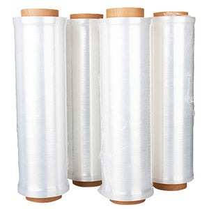 "18"" x 80 gauge x 1500' Hand Stretch Wrap, 4 rolls/case"